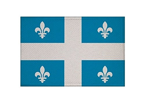 U24 Aufnäher Quebec Fahne Flagge Aufbügler Patch 9 x 6 cm