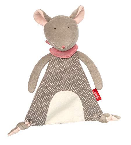 Sigikid Mädchen und Jungen, Schnuffeltuch Maus Signature, Babyspielzeug, empfohlen ab 0 Monaten, grau/rosa, 39199