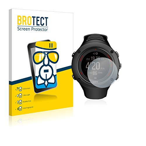 BROTECT Panzerglas Schutzfolie kompatibel mit Suunto Ambit3 Run Black - AirGlass, 9H Härte, Anti-Fingerprint, HD-Clear