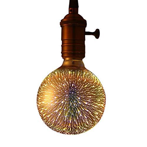 SFNTION Bombilla LED de Firework para iluminación nocturna ambiental, base estándar E27 con cadena de luces decorativas para baño, habitación, sala de estar.