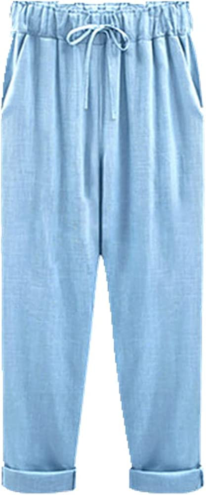 NP Pants Waist Ankle Length Casual Women Loose Spring Pants