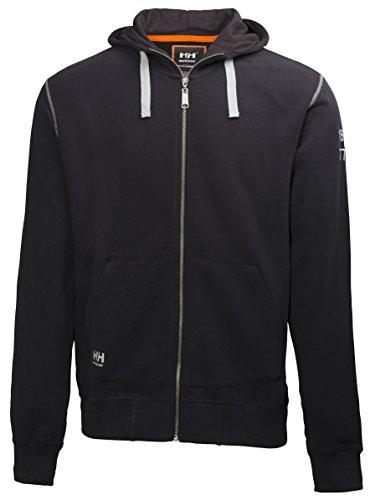 Helly Hansen Workwear Kapuzenpullover Oxford FZ Hoodie Pulli mit Reißverschluss 990, Größe XXL, schwarz, 79028