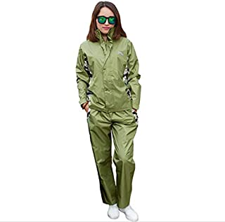 Radvihay Raincoat Suit Waterproof Jacket and Trousers Set Hooded Rainwear Raincoat and Rain Pants Suit Outdoor Work Motorc...