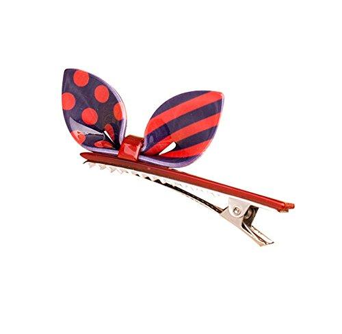 Lot de 2 Rabbit Ear Hair Pin Fashion Hair Clip/Hairpin, Rouge / Violet