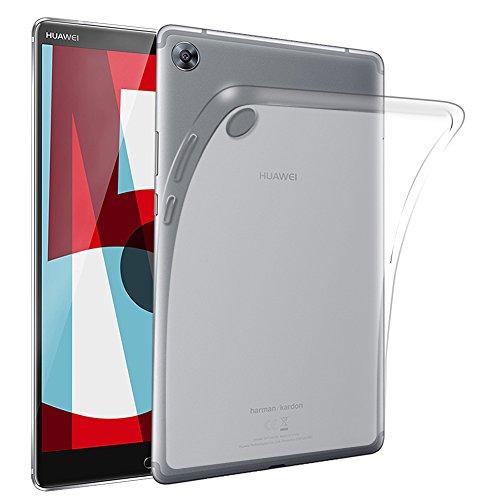 Gosento Huawei MediaPad M5 (10,8 Zoll) Hülle TPU Hülle, Soft Premium Flex Silikon Backcover Ultra Dünn Clear Semi-transparent Schutzhülle Tablet Cover für MediaPad M5 10.8 (Matt transparent) EINWEG