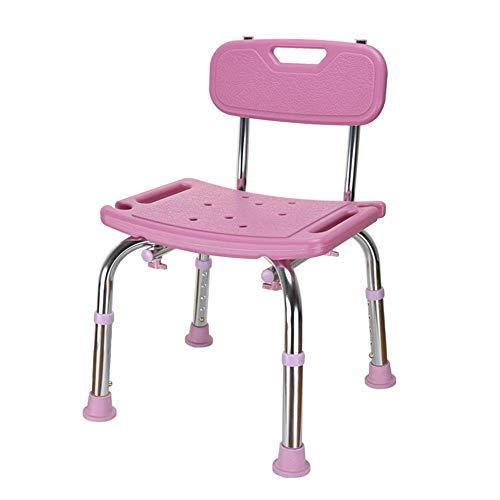 LUNAH Asiento de Ducha Taburete de baño Paso de pie Ajustable para niños Adultos Personas Mayores Ancianos Discapacidad Silla de Ducha Resistente Taburete de baño (Color: Rosa, Tamaño: 40.5x28cm)