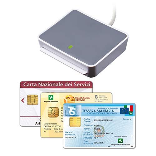uTrust 2700 USB Lettore Carta Nazionale e Regionale dei Servizi (CNS, CRS), Tessera Sanitaria, Codice Fiscale (TSN), attivazione SPID, Firma Digitale, fascicolo Sanitario - Plug & Play