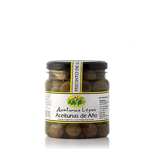 Aceitunas de Año 100% Natural - Bote de 750 g - Aceitunas Lopez (Pack de 1 tarro)