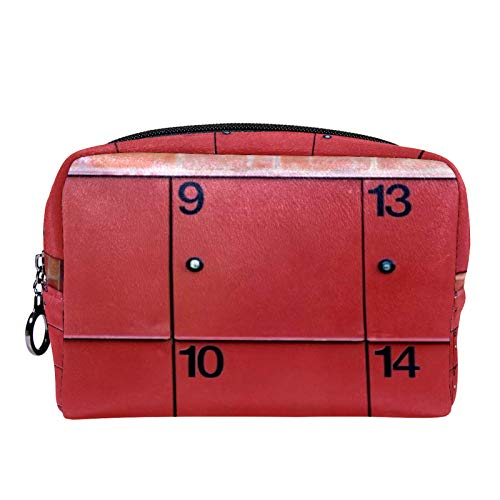 Sminkväska för toalettartiklar för kvinnor flickor handväska kosmetisk resa kit organiserare rött skåp