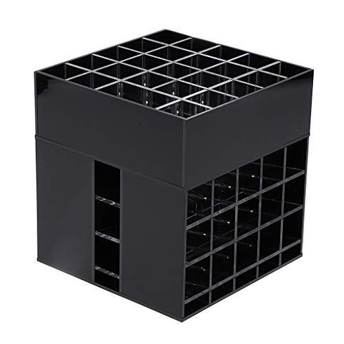 Fenteer Organiseur de Maquillage Boîte Stockage Tournant à 360° Boîte de Rangement pour Cosmétiques 15,2 x 14,5 x 14,5 cm - Blanc