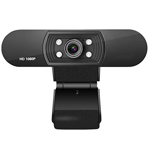 Full HD Video Webcam 1080p HD Cámara USB Webcam Focus Night Vision Computer Cámara Web con Micrófono Incorporado JNSXT (Color : USB Webcam)