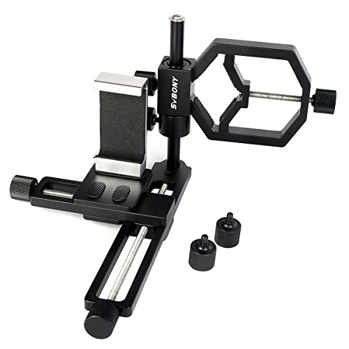 Svbony Adaptador Telescopio Smartphone 2 en 1 Adaptador Camara Telescopio con Clip de Metal para Teléfono Adaptador de...