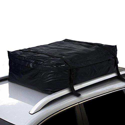 TOOLUCK Box da tetto auto, 544 litri, pieghevole, impermeabile, portatile, adatto per viaggi e tutti i veicoli con portapacchi, nero (122 × 97 × 46 cm)