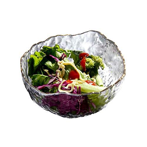 Ensaladera grande de cristal para servir ensalada, cuenco multiusos para palomitas de maíz, aperitivo, frutas, verduras, ensalada, postre, cereales y pasta