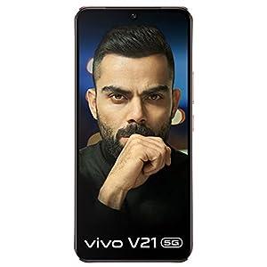 Vivo V21 5G (Arctic White, 8GB RAM) + Boat Bassheads 162 in Ear Wired Earphones (Active Black)