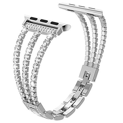 Cadena con diamantes Correa de repuesto para Apple Watch series 4 5 6 SE 44mm 40mm Band Pulsera para iWatch 1 2 3 42mm 38mm