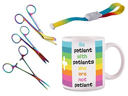 Set Persönliche Ausrüstung für krankenschwester + Gratis Gravur! (Rainbow)