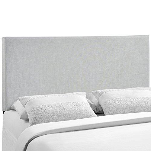 Modway Region Upholstered Linen Headboard Queen Size In Sky Gray