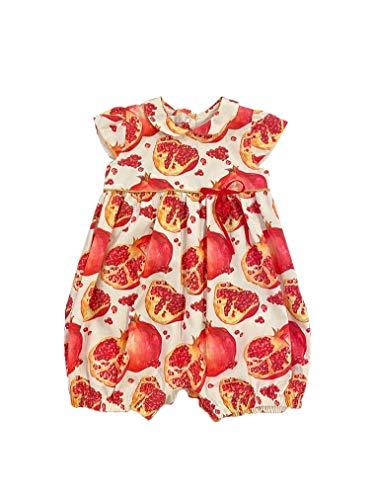 MonnaRosa Milano Pasgeboren Peuter Baby Meisje%100 Katoen Zomerdoek Jurk Geschikt voor 0-9 Maanden Mouwloos Casual Ceremony Stijlvolle Premium Romper Outfit