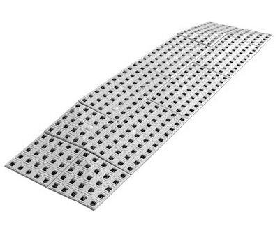 Drempelhulp 7,4 cm (H) x 75 cm (B), 3 zijdig - voor Buiten