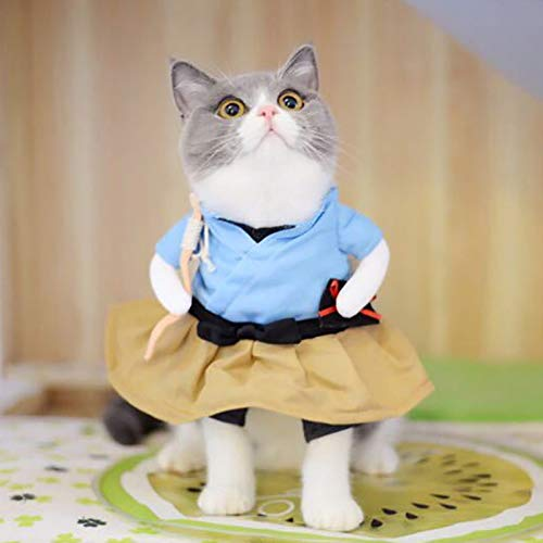 D-ModernPet Dog Costume - Funny Dog Cat Costumes Urashima Taro Cosplay Suit Pet Apparel Halloween Christmas Clothes for Puppy Dogs Costume for a cat