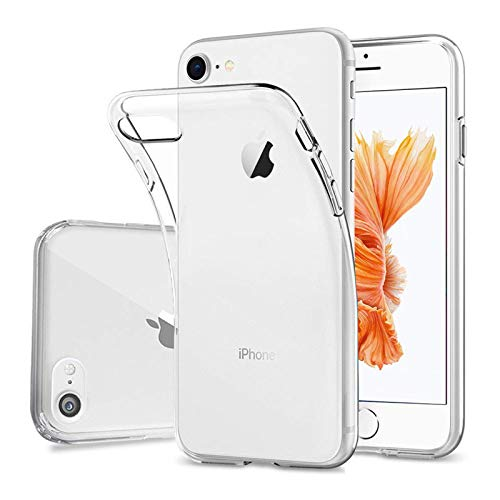 DOSMUNG Custodia per iPhone 6s Plus/iPhone 6 Plus, TPU Silicone iPhone 6s Plus Protettiva Case, Morbido Slim Cover Anti-Graffio/Anti-Ingiallimento/la Ricarica Wireless Clear Case per iPhone 6 Plus