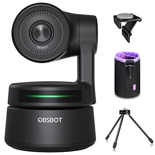 OBSBOT Tiny AI-Powered PTZ Webcam, AI-Tracking mit Auto-Frame, AI-Belichtungsautomatik, Gestensteuerung, Software unterstützt Windows und MacOS, für Video-Chat