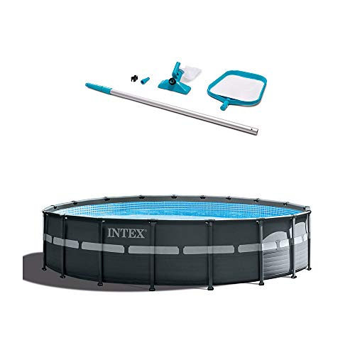 Intex Ultra Xtra 18ft x 18ft x 52in Frame Pool Set Cleaning Kit w/Accessories