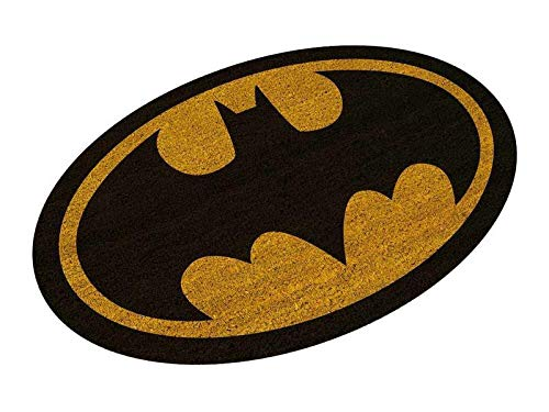 SD toys Felpudo Batman Logo Oval Doormat DC Comics Official Merchandising Referencia DD Textiles del hogar Unisex Adulto, Multicolor (Multicolor), única
