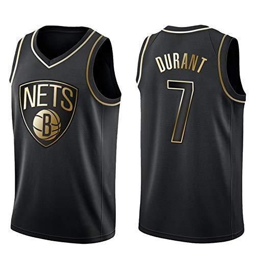OLJB Kevin Durant Jersey para hombres y mujeres7#, Brooklyn Nets Fan Model Sports Tank Top, tejido de malla transpirable y de secado rápido, el mejor regalo negro-XXL