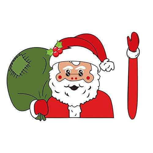 Zelfklevende Leuke Cartoon Auto Achterruit Ruitenwisser Sticker Sticker voor Kerst Xmas Voertuig Auto Decoraties Stijl E