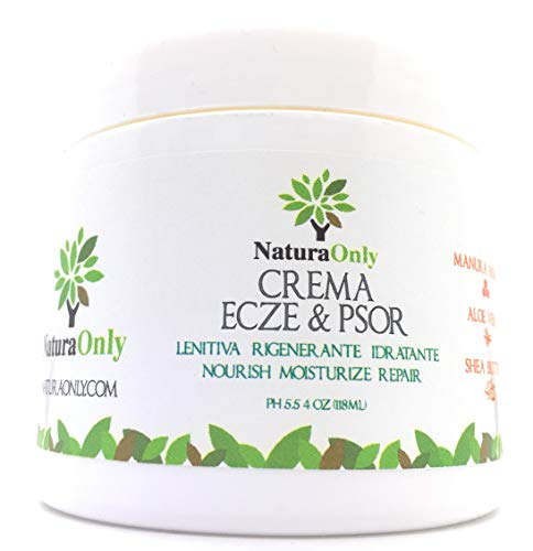 Ecze & Psor kräm - naturlig och intensiv grädde med Manuka Honung, Aloe Vera, Sheasmör, Kokosolja. behandling för torr, kliande, rostig och fjällande hud