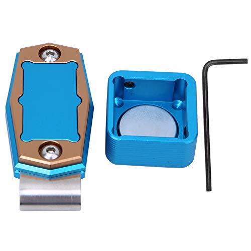 Vbest life Mini Porta Calcetto Magnetico Portatile con Supporto per Scatola Porta Gesso con Accessori fissi per Biliardo(Blu)