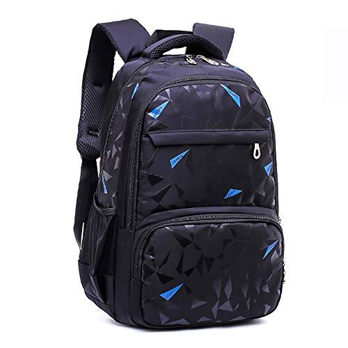 Gymy Escuelas para estudiantes de primaria y secundaria, mochilas para niños, mochilas coreanas para niños, mochilas para niños, mochilas, color azul