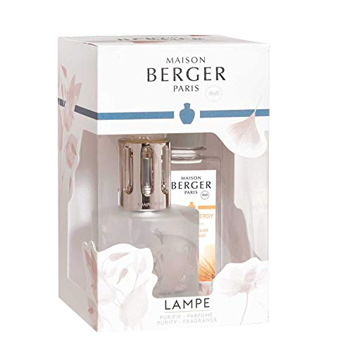 Lampe Berger Aroma Energy Duftlampe, Glas, Satiniert/Silber, 210 ml