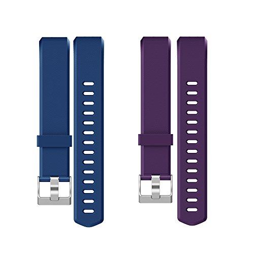 YAMAY Correas Reemplazables para Pulseras de Actividades SW333 (Azul + Púrpura)