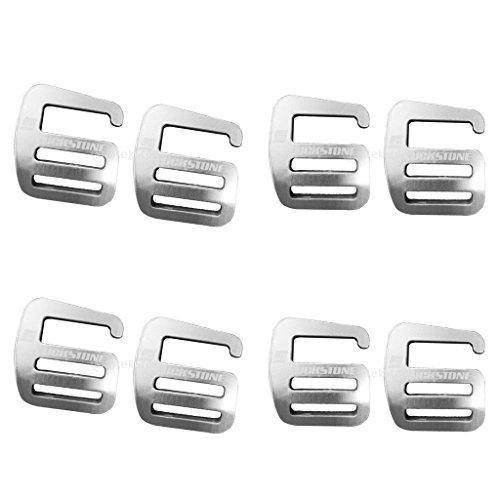 MagiDeal 8 Stück G Haken Gurtband Schnalle Für Rucksack 25mm aus Aluminiumlegierung Webbing Buckle