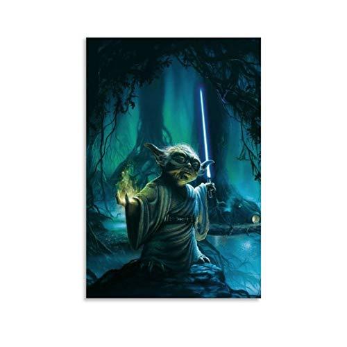 Ghychk Star Wars Mandalorianischer Jedi-Meister Yoda Gemälde mit moderner,...