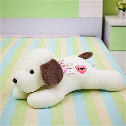 HJYHXY 45cm Almohada de Perro de Dibujos Animados Lindo Perro Tapping Amor muñeco de Peluche de Juguete Gris