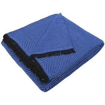 ( Azul 220) COLCHA MULTIUSOS OMAR FOULARD ( CAMA O SOFÁ ) COLOR LISO JASPEADO FÁBRICADO ESPAÑA (220_x_250_cm (SOFÁ 3 PLAZAS O CAMA 135), AZUL)