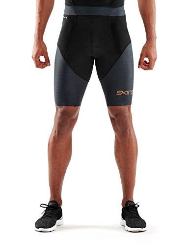 Skins DNAmic Triathlon - Mallas de triatlón para Hombre, Hombre, TR00010020032M, Negro/Gris Oscuro, Medium