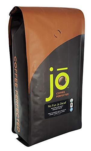 NO FUN JO DECAF: 2 lb, Organic Decaf Ground Coffee, Swiss Water Process, Fair Trade Certified, Medium Dark Roast, 100% Arabica Coffee, USDA Certified Organic, NON-GMO, Chemical & Gluten Free