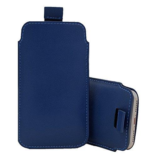 Für Doro Phoneeasy 612 Dünn Echt Weiches Leder Im Beutel Hülle Tasche - Blau
