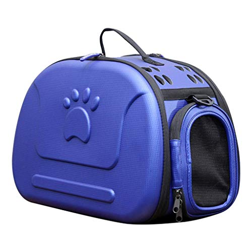 Gpzj Portable Pet Backpack Soft-Sided Collapsible EVA Pet Travel Carrier with Mesh Windows, Porous Design, Best for Small Dogs and Cats