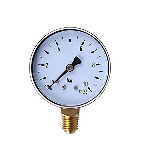 Merssavo Mini Zifferblatt Hydraulische Manometer, Radial Digitales Vakuum Manometer Für Wasser Öl Kraftstoff Bodenmontage, 3#