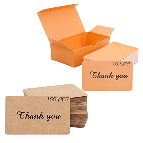 200 tarjetas de visita de papel kraft en blanco para promoción, tarjeta de regalo, nombre, número de escritorio, etiqueta, palabras,...