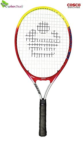 Cosco 23 Tennis Racket Junior Size, Aluminium Racket (23 Inches) ¾ Cover.