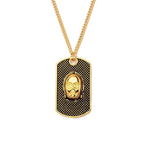 Stainless Steel 3D Jewellery Star Wars Gold IP C-3PO Stud Earrings