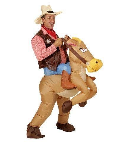 Nick and Ben Aufblasbares Carry-me Huckepack Kostüm Wilder Westen Pferd Cowboy