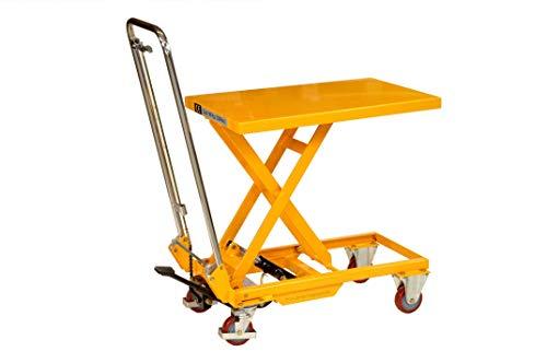 Pro-Lift-Werkzeuge Hubtisch-Wagen 150 kg Hebebühne 750 mm Hubhöhe fahrbarer Scherenwagenheber mobiler Plattformwagen